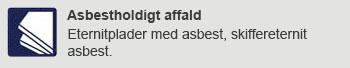 Asbest affald