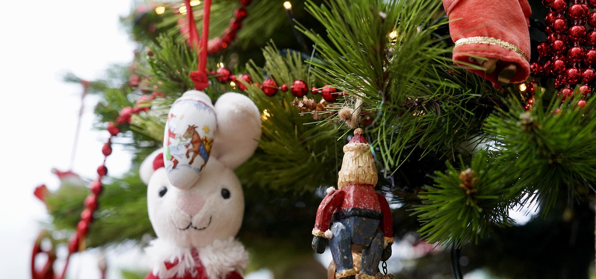 Juletræ affald bortskaffes