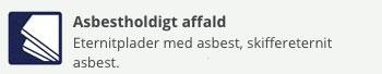 Affald asbest