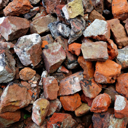 Brokker, mursten hentes