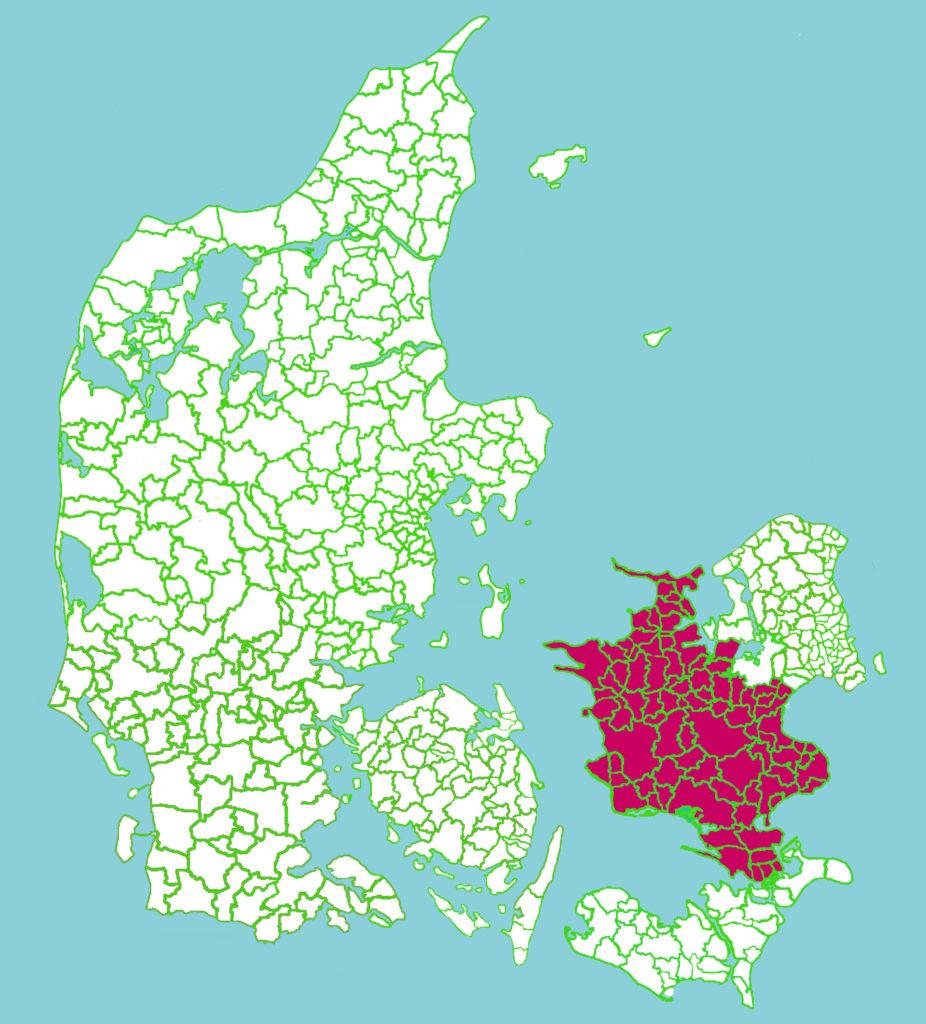 Postnr Sjælland