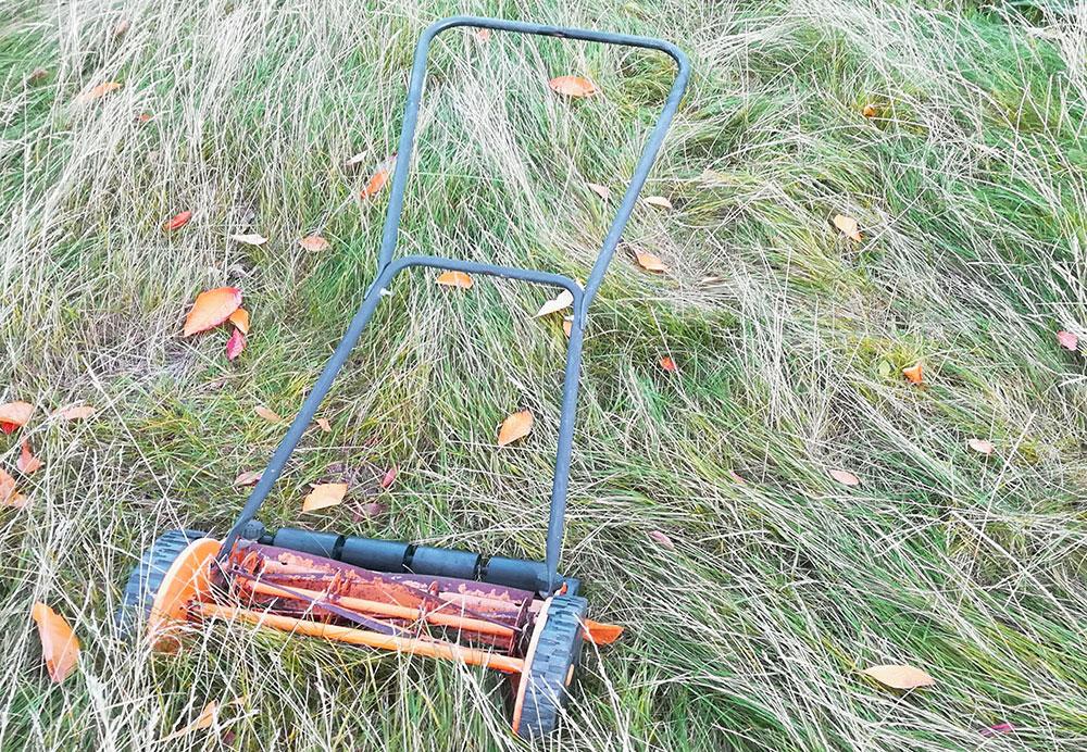 haveaffald græsslåning